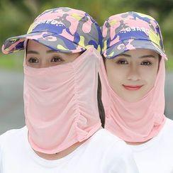 Kalamate - 套裝: 鏤空棒球帽 + 臉罩