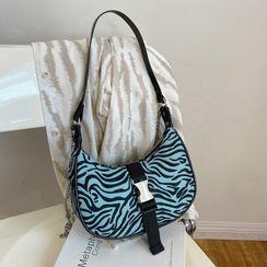 Diamante - Print Faux Leather Shoulder Bag
