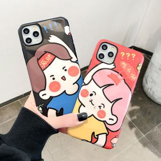 Mobby - Couple Matching Cartoon Mobile Case - iPhone 11 Pro Max / 11 Pro / 11 / XS Max / XS / XR / X / 8 / 8 Plus / 7 / 7 Plus / 6s / 6s Plus