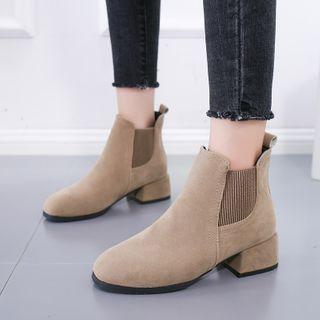 Butterfly Kiss - Block Heel Short Boots