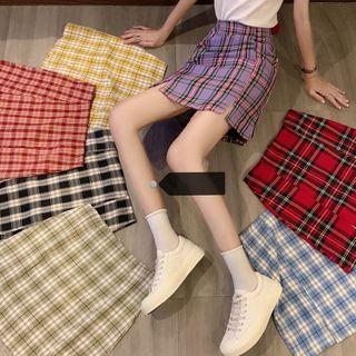 Closette - Plaid Mini A-Line Skirt
