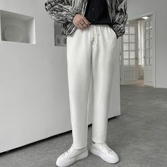 Freehop - High-Waist Drawstring Quilted Pants