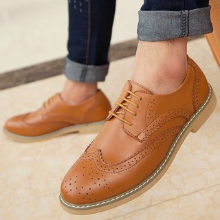 TYCOON - Genuine Leather Brogue Oxfords