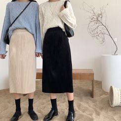 Tyche - 灯芯绒直身长裙