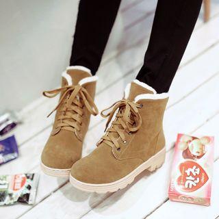 Shoes Galore - Lace-Up Short Boots