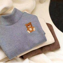 Bixin - Bear Embroidered Pet Top