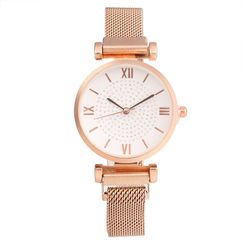 Tazzy - Roman Numeral Alloy Bracelet Watch