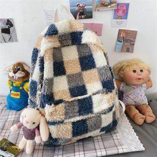 Tango Sky - Patterned Fleece Backpack