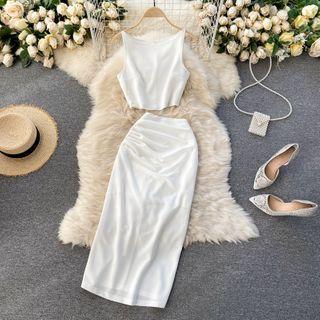 Lucuna - 套装: 吊带背心 + 中长裙