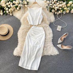 Lucuna - 套裝: 吊帶背心 + 中長裙