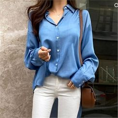 PIPPIN - Drop-Shoulder Round-Hem Shirt