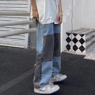 Banash - Paneled Wide Leg Jeans
