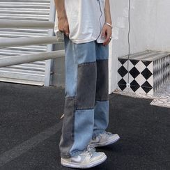 Banash(バナッシュ) - Paneled Wide Leg Jeans