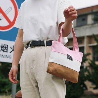 Comedear - Color Block Canvas Handbag