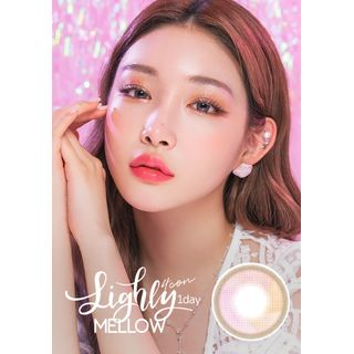 LENS TOWN - Lighly Mellow 1-Day Color Lens #Pink