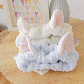 Reiro - Coral Fleece Cat Ear Face Wash Headband