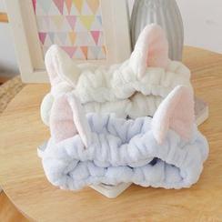 Reiro - 珊瑚絨貓耳朵潔面頭帶