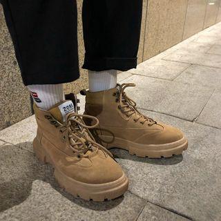Algodon - Platform Lace Up Short Boots