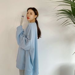DABAGIRL - Oversized Pastel Cotton Sweatshirt