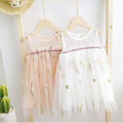 Shaneebabe - Kids Sleeveless A-Line Mesh Dress