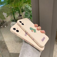 SIFFU(シフウ) - Dinosaur Print Phone Case - iPhone 12 Pro Max / 12 Pro / 12 / 12 mini / 11 Pro Max / 11 Pro / 11 / SE / XS Max / XS / XR / X / SE 2 / 8 / 8 Plus / 7 / 7 Plus