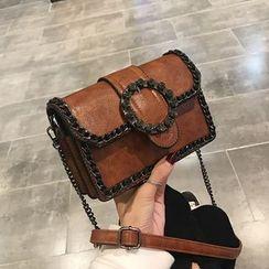 Mulgam - Buckled Flap Crossbody Bag