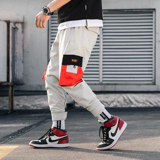 Ferdan - Color Block  Harem Pants