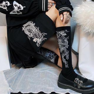 Miu B - Dragon Jacquard Socks