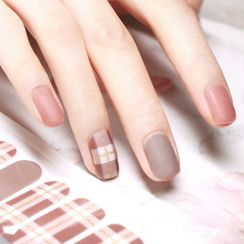 Kaliwoo - Plaid Nail Art Stickers