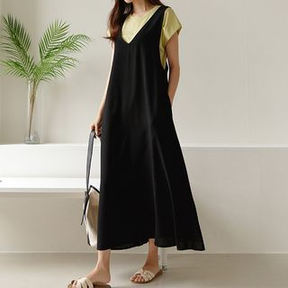 JUSTONE - Pocket-Side Maxi Overall Dress
