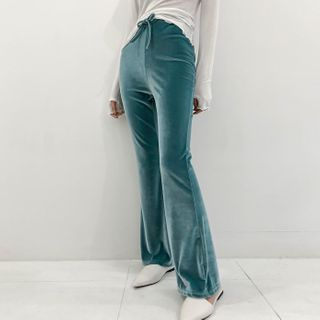 DABAGIRL - Boot-Cut Velour Yoga Pants