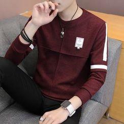 Ferdan - Applique Long-Sleeve T-Shirt