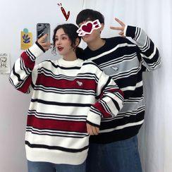 Kabanza - 情侶裝條紋毛衣