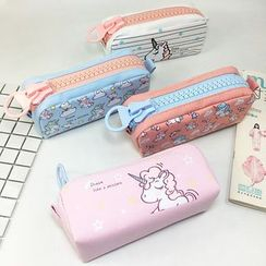 Ikiana - Unicorn Print Canvas Pencil Case