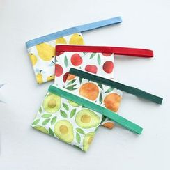 Andrade - Fruits Printed Canvas Clutch Bag
