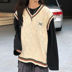 Minerva - Long-Sleeve T-Shirt / Knit Vest