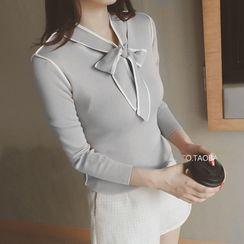 COZA - 領結帶針織上衣