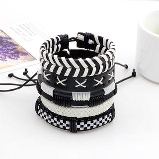 KINNO - Set of 5: Woven Bracelet