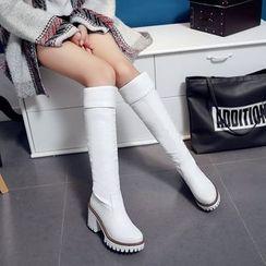 佳美 - 粗跟长靴