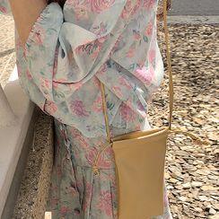 FROMBEGINNING - Phone Pleather Crossbody Bag