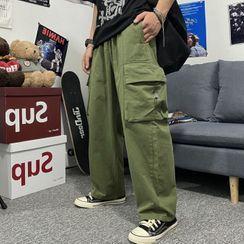 Malnia Home(マルニャホーム) - Couple Matching Cargo Wide-Leg Pants