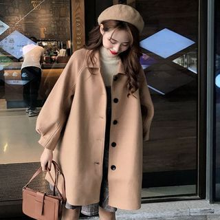 Sienne - Button-Up Wool Coat