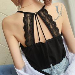Shiodome - Lace Trim Back Camisole Top