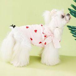 IKR - Heart Print Pet Dress