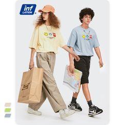 Newin - Unisex Short-Sleeve Printed Loose T-Shirt