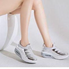 MINIKA - 閃亮拼接氣墊厚底輕便鞋