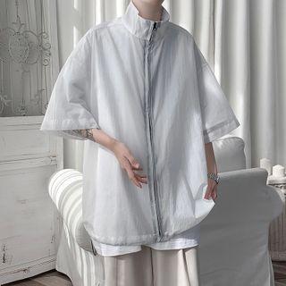 Chuoku - Short-Sleeve Zip Jacket