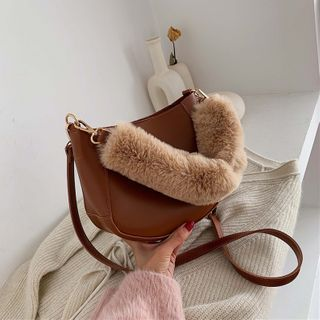 Kunado - Mini Fluffy Handle Crossbody Bag