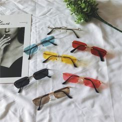 Aisyi - Frameless Rectangle Sunglasses