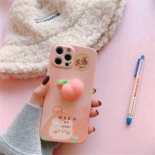 TOLC - Squishy Peach Phone Case - iPhone 12 Pro Max / 12 Pro / 12 / 12 mini / 11 Pro Max / 11 Pro / 11 / SE / XS Max / XS / XR / X / SE 2 / 8 / 8 Plus / 7 / 7 Plus